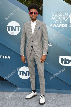 Darrell Britt-Gibson arrives at the 26th annual Screen Actors Guild Awards at the Shrine Auditorium & Expo Hall, in Los Angeles