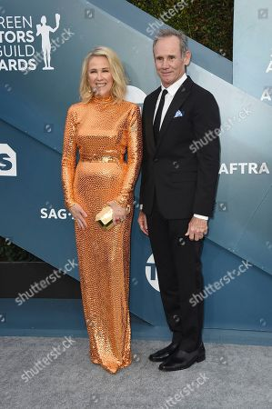 Catherine O'Hara, Bo Welch. Catherine O'Hara, left, and Bo Welch arrive at the 26th annual Screen Actors Guild Awards at the Shrine Auditorium & Expo Hall, in Los Angeles