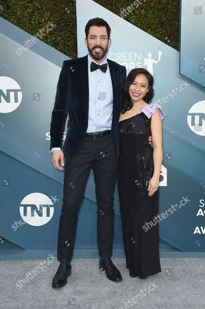 Drew Scott, Linda Phan. Drew Scott, left, and Linda Phan arrive at the 26th annual Screen Actors Guild Awards at the Shrine Auditorium & Expo Hall, in Los Angeles