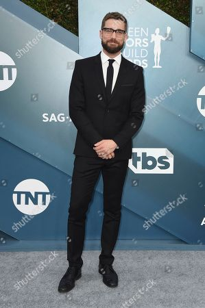 Dustin Milligan arrives at the 26th annual Screen Actors Guild Awards at the Shrine Auditorium & Expo Hall, in Los Angeles