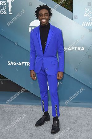 Stock Photo of Caleb McLaughlin arrives at the 26th annual Screen Actors Guild Awards at the Shrine Auditorium & Expo Hall, in Los Angeles