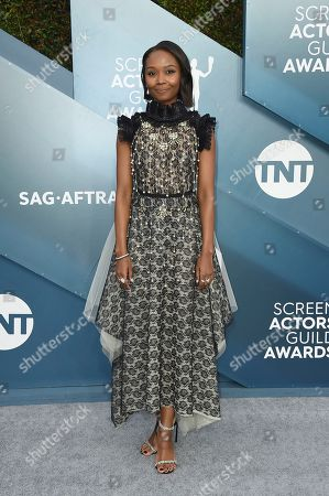 Ashleigh LaThrop arrives at the 26th annual Screen Actors Guild Awards at the Shrine Auditorium & Expo Hall, in Los Angeles