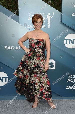 Stephanie Kurtzuba arrives at the 26th annual Screen Actors Guild Awards at the Shrine Auditorium & Expo Hall, in Los Angeles