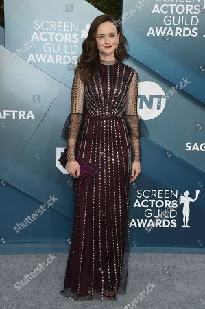 Alexis Bledel arrives at the 26th annual Screen Actors Guild Awards at the Shrine Auditorium & Expo Hall, in Los Angeles