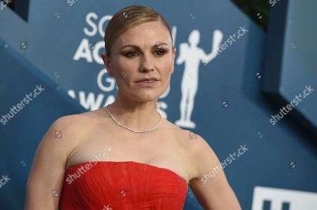 Anna Paquin arrives at the 26th annual Screen Actors Guild Awards at the Shrine Auditorium & Expo Hall, in Los Angeles