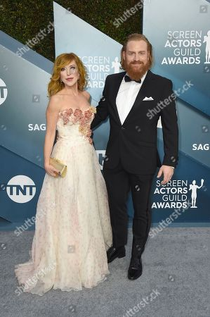 Stock Picture of Gry Molv'r Hivju, Kristofer Hivju. Gry Molvær Hivju, left, and Kristofer Hivju arrive at the 26th annual Screen Actors Guild Awards at the Shrine Auditorium & Expo Hall, in Los Angeles