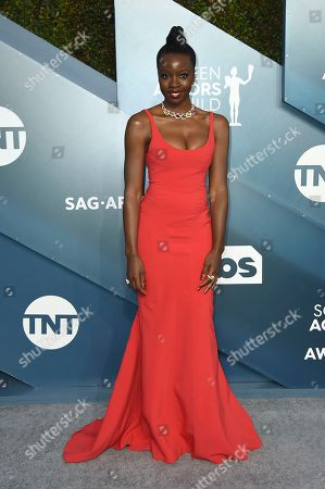 Stock Image of Danai Gurira arrives at the 26th annual Screen Actors Guild Awards at the Shrine Auditorium & Expo Hall, in Los Angeles