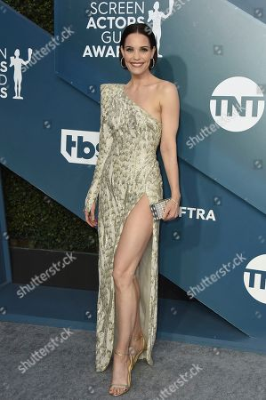 Leslie Bibb arrives at the 26th annual Screen Actors Guild Awards at the Shrine Auditorium & Expo Hall, in Los Angeles