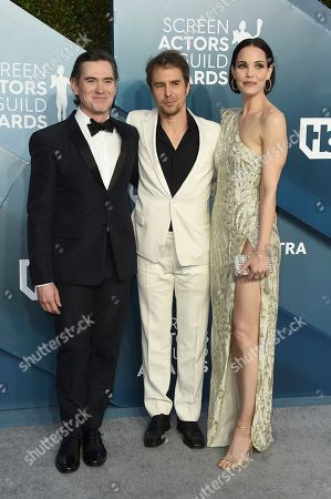 Billy Crudup, Sam Rockwell, Leslie Bibb. Billy Crudup, from left, Sam Rockwell, and Leslie Bibb arrive at the 26th annual Screen Actors Guild Awards at the Shrine Auditorium & Expo Hall, in Los Angeles