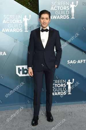 Michael Zegen arrives at the 26th annual Screen Actors Guild Awards at the Shrine Auditorium & Expo Hall, in Los Angeles