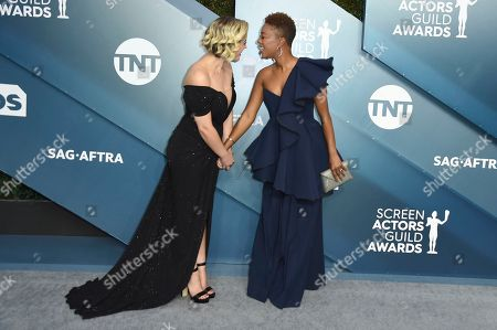 Lauren Morelli, Samira Wiley. Lauren Morelli, left, and Samira Wiley arrive at the 26th annual Screen Actors Guild Awards at the Shrine Auditorium & Expo Hall, in Los Angeles