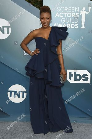 Samira Wiley arrives at the 26th annual Screen Actors Guild Awards at the Shrine Auditorium & Expo Hall, in Los Angeles