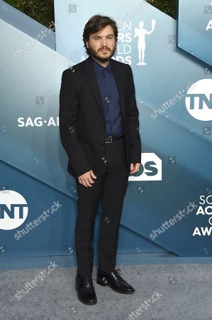 Emile Hirsch arrives at the 26th annual Screen Actors Guild Awards at the Shrine Auditorium & Expo Hall, in Los Angeles