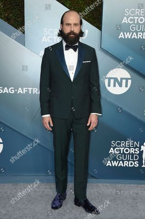 Brett Gelman arrives at the 26th annual Screen Actors Guild Awards at the Shrine Auditorium & Expo Hall, in Los Angeles