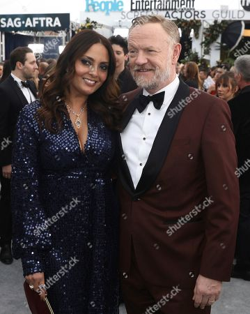 Jared Harris, Allegra Riggio. Jared Harris, right, and Allegra Riggio arrive at the 26th annual Screen Actors Guild Awards at the Shrine Auditorium & Expo Hall, in Los Angeles
