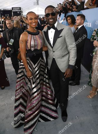 Sterling K. Brown, Ryan Michelle Bathe. Sterling K. Brown, right, and Ryan Michelle Bathe arrive at the 26th annual Screen Actors Guild Awards at the Shrine Auditorium & Expo Hall, in Los Angeles