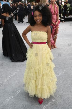 Priah Ferguson arrives at the 26th annual Screen Actors Guild Awards at the Shrine Auditorium & Expo Hall, in Los Angeles
