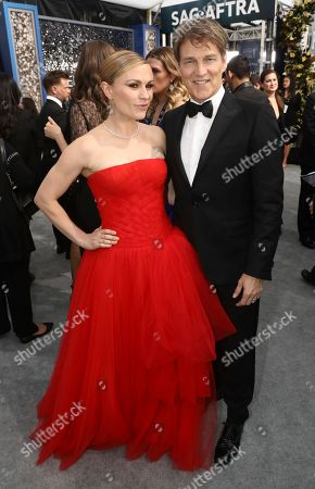 Anna Paquin, Stephen Moyer. Anna Paquin, left, and Stephen Moyer arrive at the 26th annual Screen Actors Guild Awards at the Shrine Auditorium & Expo Hall, in Los Angeles