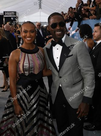 Ryan Michelle Bathe, Sterling K. Brown. Ryan Michelle Bathe, left, and Sterling K. Brown arrives at the 26th annual Screen Actors Guild Awards at the Shrine Auditorium & Expo Hall, in Los Angeles