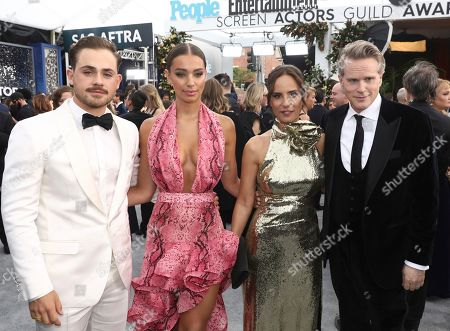 Dacre Montgomery, Liv Pollock, Lisa Marie Kubikoff, Cary Elwes. Dacre Montgomery, from left, Liv Pollock, Lisa Marie Kubikoff and Cary Elwes arrive at the 26th annual Screen Actors Guild Awards at the Shrine Auditorium & Expo Hall, in Los Angeles