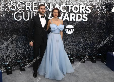 Jim Ward, Kristen Gutoskie. Jim Ward, left, and Kristen Gutoskie arrive at the 26th annual Screen Actors Guild Awards at the Shrine Auditorium & Expo Hall, in Los Angeles