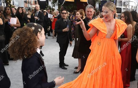 Kathryn Newton arrives at the 26th annual Screen Actors Guild Awards at the Shrine Auditorium & Expo Hall, in Los Angeles