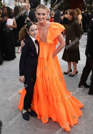Chloe Coleman, Kathryn Newton. Chloe Coleman, left, and Kathryn Newton arrive at the 26th annual Screen Actors Guild Awards at the Shrine Auditorium & Expo Hall, in Los Angeles