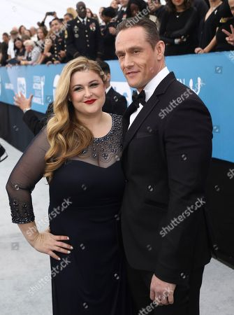 Becky Poliakoff, Andrey Ivchenko. Becky Poliakoff, left, and Andrey Ivchenko arrives at the 26th annual Screen Actors Guild Awards at the Shrine Auditorium & Expo Hall, in Los Angeles
