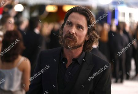Stock Image of Christian Bale arrives at the 26th annual Screen Actors Guild Awards at the Shrine Auditorium & Expo Hall, in Los Angeles