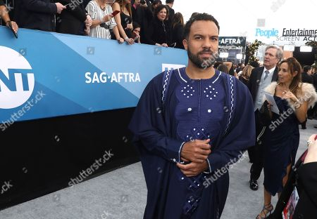 O. T. Fagbenle arrives at the 26th annual Screen Actors Guild Awards at the Shrine Auditorium & Expo Hall, in Los Angeles