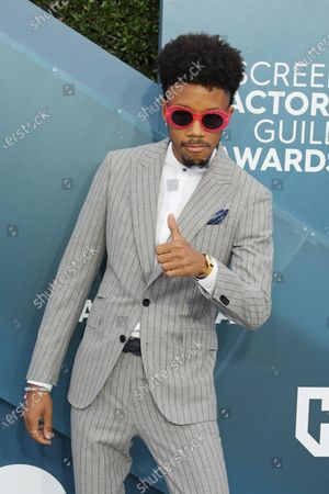 Stock Photo of Darrell Britt-Gibson arrives for the 26th annual Screen Actors Guild Awards ceremony at the Shrine Auditorium in Los Angeles, California, USA, 19 January 2020.