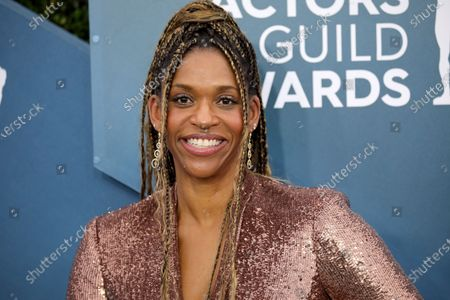 Stock Picture of Merrin Dungey arrives for the 26th annual Screen Actors Guild Awards ceremony at the Shrine Auditorium in Los Angeles, California, USA, 19 January 2020.