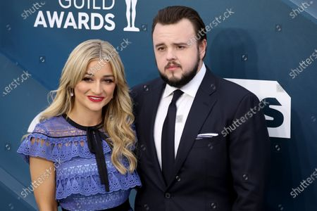 John Bradley arrives for the 26th annual Screen Actors Guild Awards ceremony at the Shrine Auditorium in Los Angeles, California, USA, 19 January 2020.