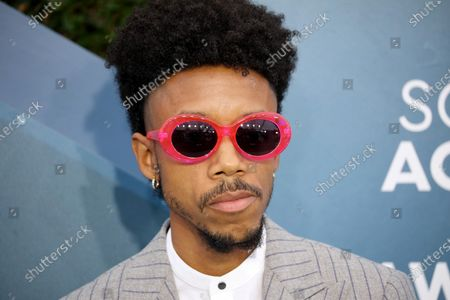 Darrell Britt-Gibson arrives for the 26th annual Screen Actors Guild Awards ceremony at the Shrine Auditorium in Los Angeles, California, USA, 19 January 2020.