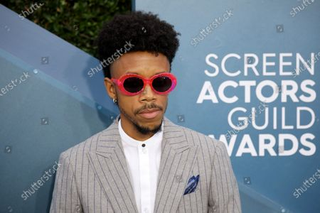 Stock Picture of Darrell Britt-Gibson arrives for the 26th annual Screen Actors Guild Awards ceremony at the Shrine Auditorium in Los Angeles, California, USA, 19 January 2020.