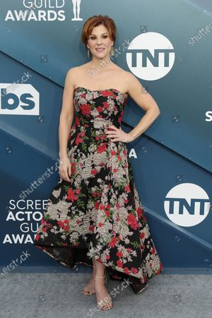 Stephanie Kurtzuba arrives for the 26th annual Screen Actors Guild Awards ceremony at the Shrine Auditorium in Los Angeles, California, USA, 19 January 2020.