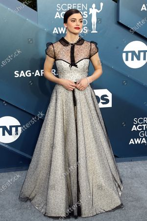 Francesca Reale arrives for the 26th annual Screen Actors Guild Awards ceremony at the Shrine Auditorium in Los Angeles, California, USA, 19 January 2020.