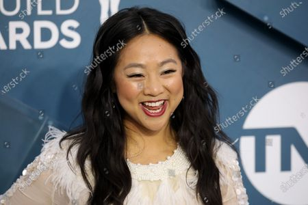 Stephanie Hsu arrives for the 26th annual Screen Actors Guild Awards ceremony at the Shrine Auditorium in Los Angeles, California, USA, 19 January 2020.