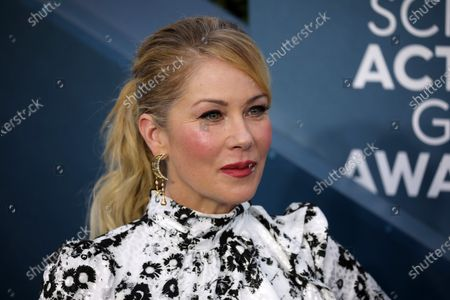 Christina Applegate arrives for the 26th annual Screen Actors Guild Awards ceremony at the Shrine Auditorium in Los Angeles, California, USA, 19 January 2020.