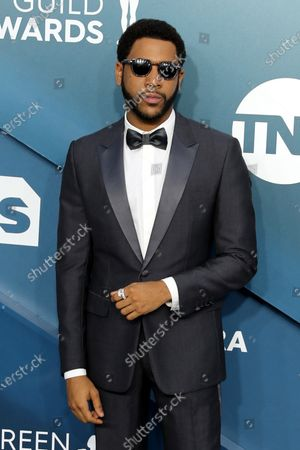 Jharrel Jerome arrives for the 26th annual Screen Actors Guild Awards ceremony at the Shrine Auditorium in Los Angeles, California, USA, 19 January 2020.