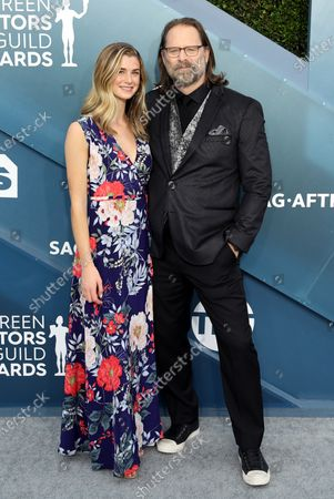 Eloise DiMase-Nordling and Jeffrey Nordling arrive for the 26th annual Screen Actors Guild Awards ceremony at the Shrine Auditorium in Los Angeles, California, USA, 19 January 2020.