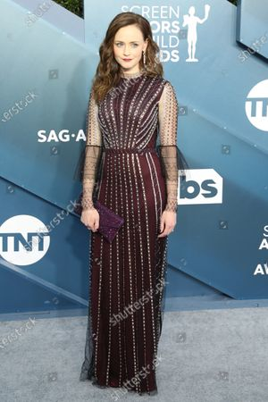 Stock Photo of Alexis Bledel arrives for the 26th annual Screen Actors Guild Awards ceremony at the Shrine Auditorium in Los Angeles, California, USA, 19 January 2020.