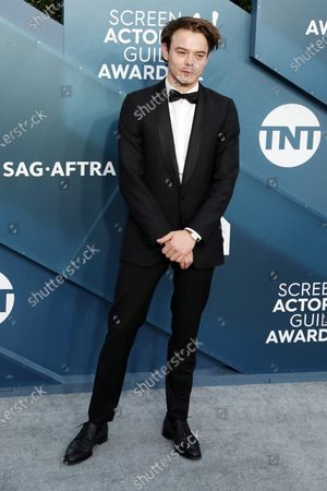 Charlie Heaton arrives for the 26th annual Screen Actors Guild Awards ceremony at the Shrine Auditorium in Los Angeles, California, USA, 19 January 2020.
