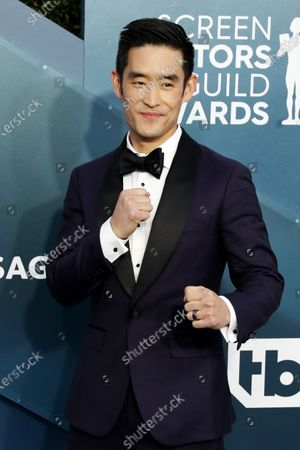 Stock Picture of Mike Moh arrives for the 26th annual Screen Actors Guild Awards ceremony at the Shrine Auditorium in Los Angeles, California, USA, 19 January 2020.