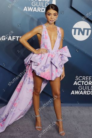 Sarah Hyland arrives for the 26th annual Screen Actors Guild Awards ceremony at the Shrine Auditorium in Los Angeles, California, USA, 19 January 2020.