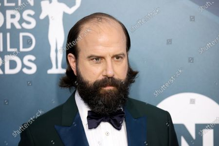 Brett Gelman arrives for the 26th annual Screen Actors Guild Awards ceremony at the Shrine Auditorium in Los Angeles, California, USA, 19 January 2020.