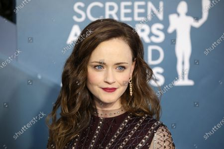 Alexis Bledel arrives for the 26th annual Screen Actors Guild Awards ceremony at the Shrine Auditorium in Los Angeles, California, USA, 19 January 2020.