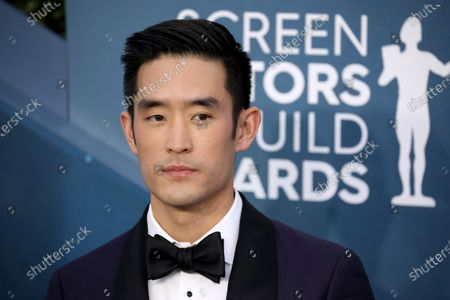 Stock Photo of Mike Moh arrives for the 26th annual Screen Actors Guild Awards ceremony at the Shrine Auditorium in Los Angeles, California, USA, 19 January 2020.