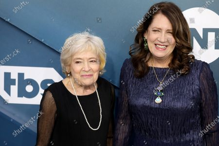 Ann Dowd (R) and Dolores Dean arrive for the 26th annual Screen Actors Guild Awards ceremony at the Shrine Auditorium in Los Angeles, California, USA, 19 January 2020.