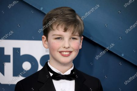 Iain Armitage arrives for the 26th annual Screen Actors Guild Awards ceremony at the Shrine Auditorium in Los Angeles, California, USA, 19 January 2020.